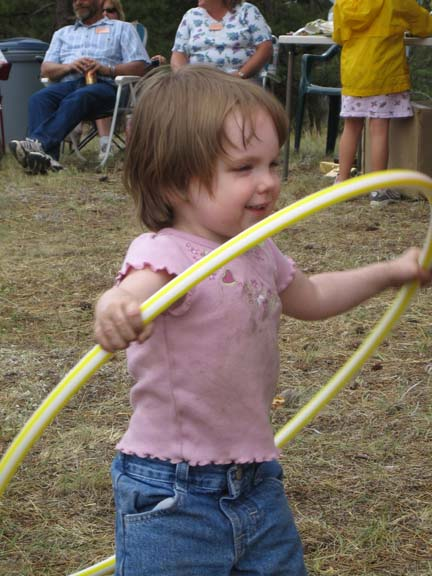 Photo of girl with Hula Hoop